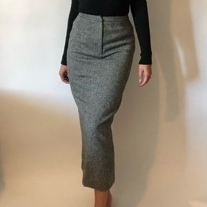 {Ralph Lauren} vintage wool long pencil skirt